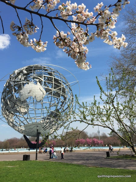 The Unisphere in Flushing Meadows-Corona Park, site of the 1964-65 World's Fair.