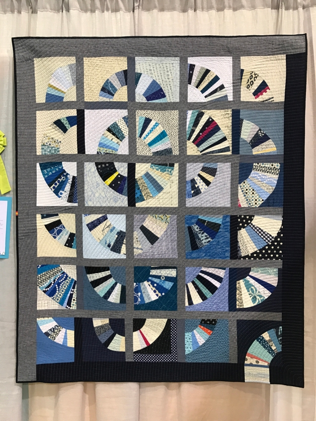 Blue Blue Electric Blue - Ara Jane Olufson's charity bee quilt made with members of the Seattle MQG